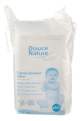 60 Carrés Douceur Bébé Coton Bio Douce Nature