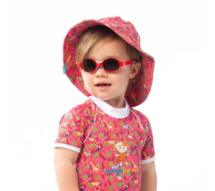 Anti-UV baby Zonnehoedje Sophie in Saint Malo