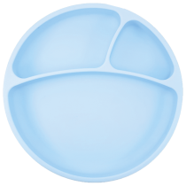 Assiette à Compartiments Silicone Bleu Minikoioi