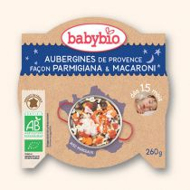 Assiette bonne nuit Aubergines Parmigiana Macaroni 260g 15M