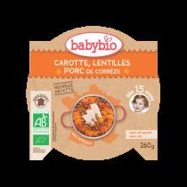 Assiette Carotte Lentilles Porc 260g 15M Babybio