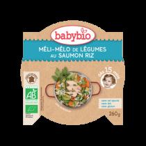 Assiette Meli Melo Légumes Saumon Riz 260g 15M