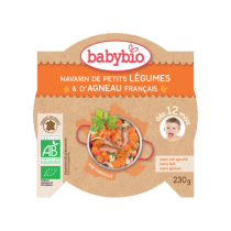 Assiette Navarin Légumes Agneau 230g 12M Babybio