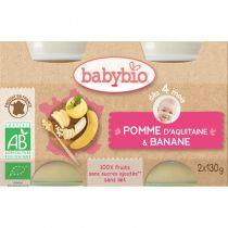 Baby Jars Apple Banana Organic 2 X 130G Babybio