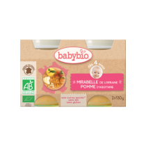 Baby Jars Apple Mirabelle Organic 2X130G Babybio