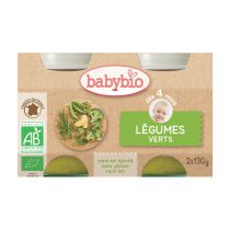 Baby Jars Green Vegetables Organic 2 X 130G Babybio