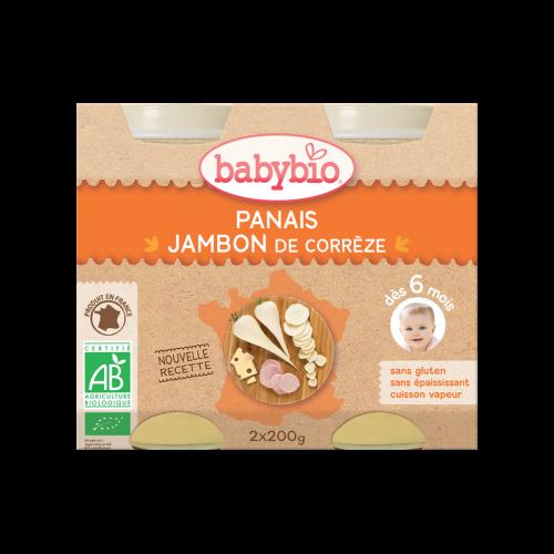 Baby Jars Menu Parsnip Ham Organic 2 X 200G Babybio