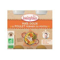 Baby Jars Menu Vegetables Chicken Organic 2 X 200G Babybio