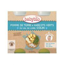 Baby Jars Menu Vegetables Hake Fish Organic 2 X 200G Babybio