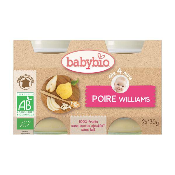 Baby Jars Pear Organic 2X130G Babybio