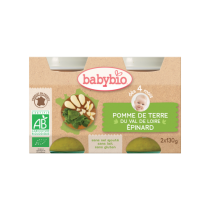 Baby Jars Potatoes Spinach Organic 2X130G Babybio