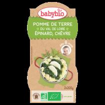 Baby Menu Aardappelen Spinazie Geitekaas Bio 2X200G Babybio VERVALDATUM 28/04/18