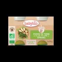 Baby Potjes Aardappelen Spinazie Bio 2X130G Babybio