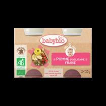 Baby Potjes Appel Aardbei Bio 2X130G Babybio