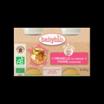 Baby Potjes Appel Mirabelle Bio 2X130G Babybio