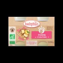 Baby Potjes Appel Vanille Bio 2X130G Babybio