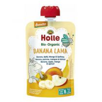 Banana Lama Fruit Purée 6M 100g Holle