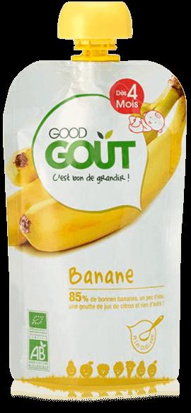Banane 120g dès 4 mois Good Gout