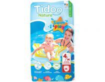 Bath Nappies 4-9Kg T3 12 Pieces Tidoo Swim & Play