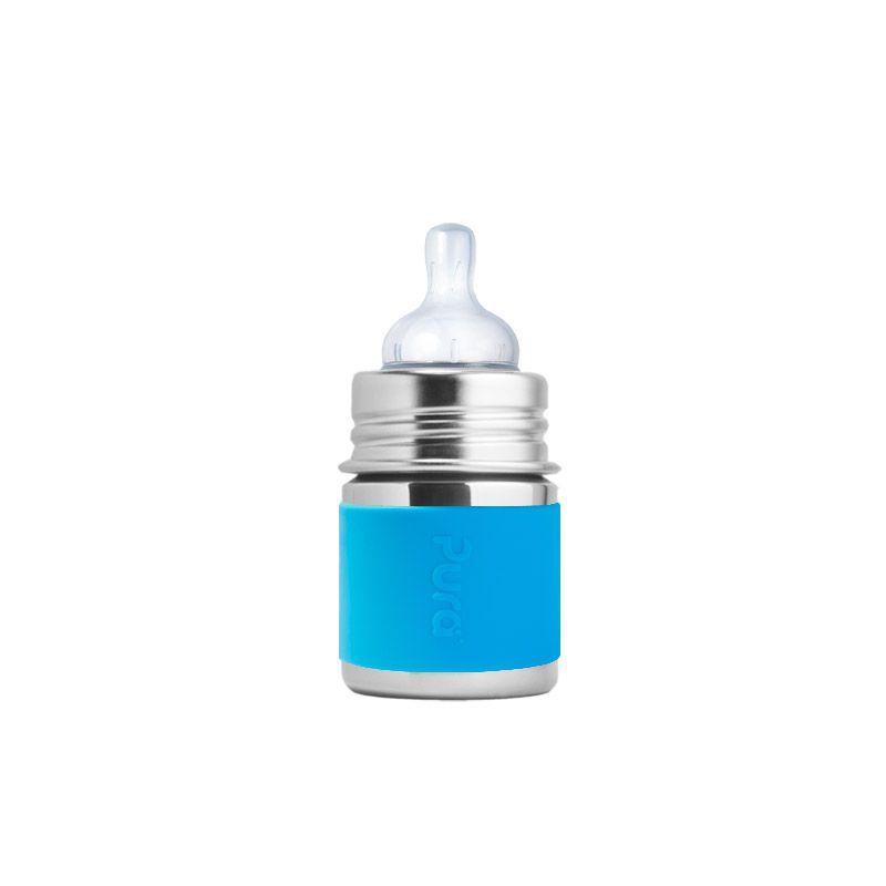 Biberon Inox 150ml Bleu Pura
