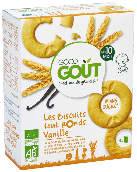 Biscuits Tout Ronds Vanille 80g 10M Good Gout