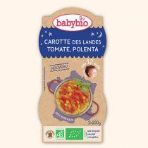 Bols bonne nuit Carotte Tomate Polenta 2x200g 12M