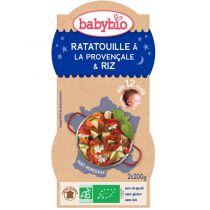 Bols bonne nuit Ratatouille Riz 2x200g 12M