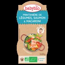 Bols Menu Légumes Saumon Macaroni 2x200g 12M