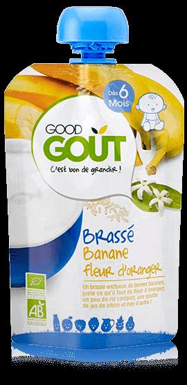 Brassé Banane fleur d\'oranger 90g dès 6M Good Gout