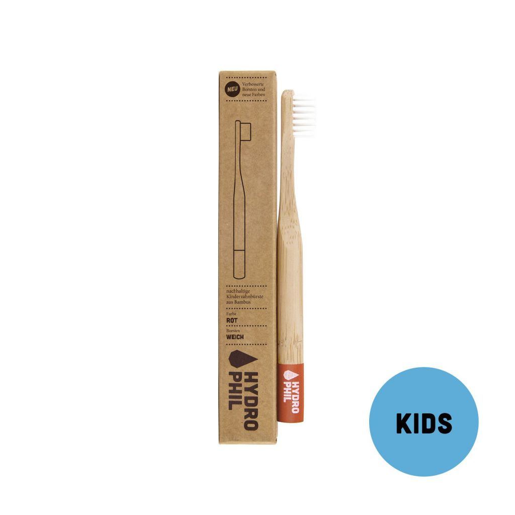 Brosse à dents Enfant Bambou Rouge Hydrophil