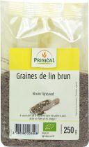 Brown Flaxseeds Organic 250G Primeal