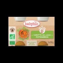 Carottes Potimarron Bio 2X130G Babybio