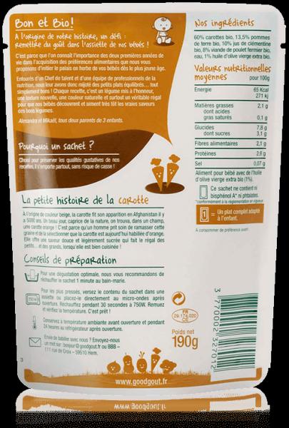 Carottes poulet 190g dès 6 mois