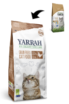 Cat Dry Food Organic Chicken Without Cereals 800G Yarrah