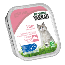 Cat Food Pate Salmon Organic 100G Yarrah