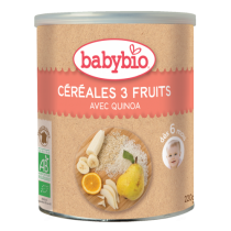 Céréales 3 Fruits Quinoa Bébé Bio 220G Babybio