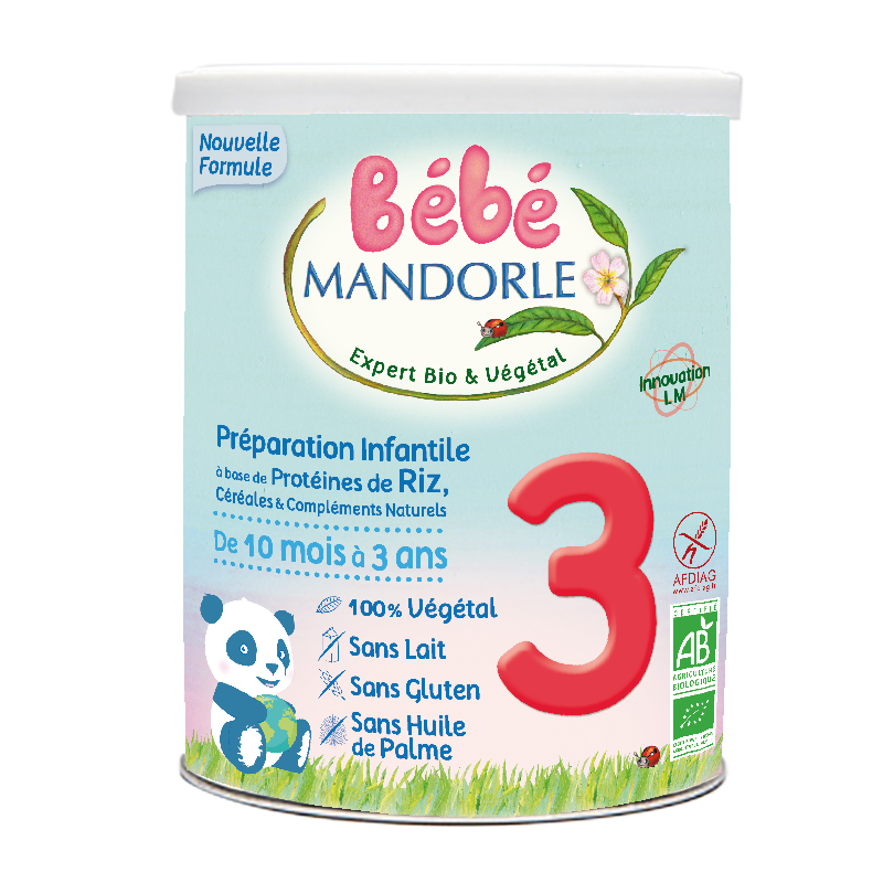 Céréales à complément protéinique - 3ème âge - De 10 mois à 3 ans Bébé Mandorle