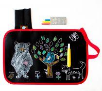 Chalk Color & Doodle Mat Friends Jaq Jaq Bird