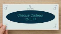 Chèque Cadeau Valeur 25 Eur