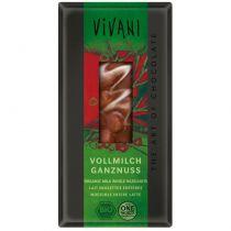 Chocolat lait noisettes entières 100g Vivani