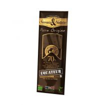 Chocolat noir 70% Equateur 100g Saveurs et Nature