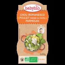 Chou Romanesco Poulet Parmesan 2x200g 8M Babybio