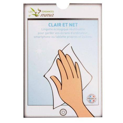Clair Et Net Lingette Écran Et Lunettes