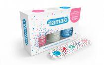 Coffret 3 vernis Rose Blanc Bleu ciel + lime Namaki
