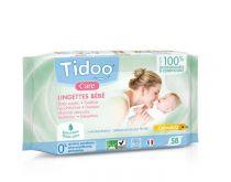 Composteerbare babydoekjes calendula bio met parfum 58 doekjes Tidoo
