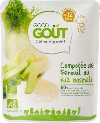 Compotée fenouil riz basmati 220g dès 12 mois