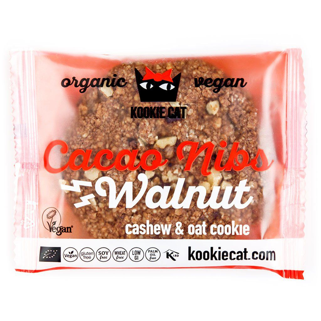 Cookie Fève de Cacao Noix Vegan 50g Kookie Cat
