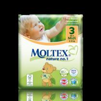 Couches Jetables Midi 4-9kg 34 pièces Moltex