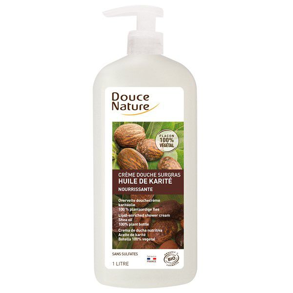 Crème Douche Surgras Karité 1L Bio Douce Nature