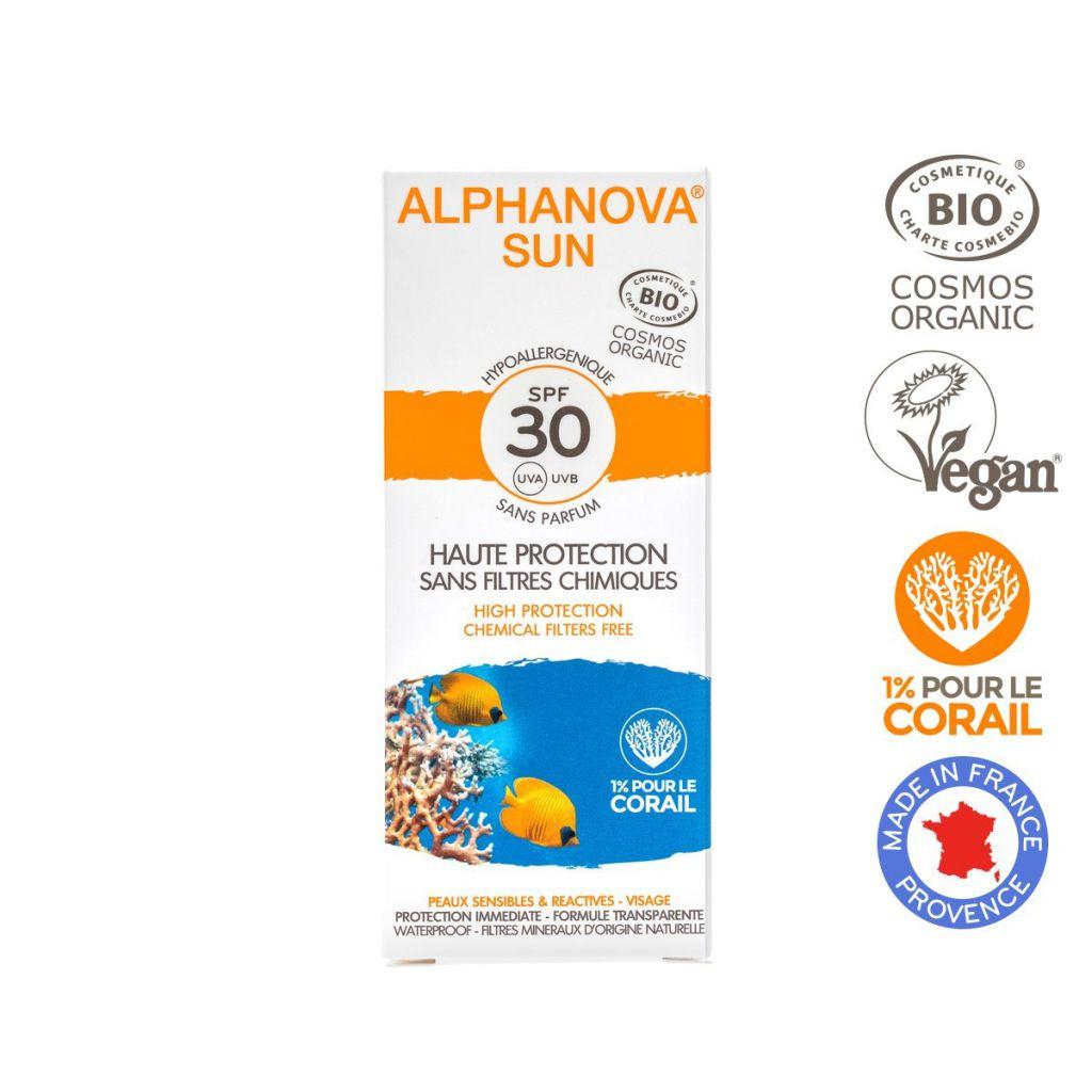 Crème Solaire Hypoallergénique Visage SPF30 50g